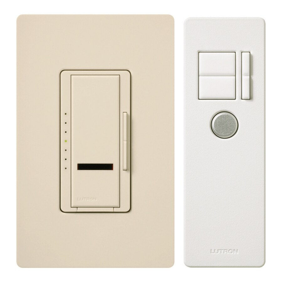 shop lutron maestro ir 600 watt single pole wireless light almond indoor remote control dimmer. Black Bedroom Furniture Sets. Home Design Ideas