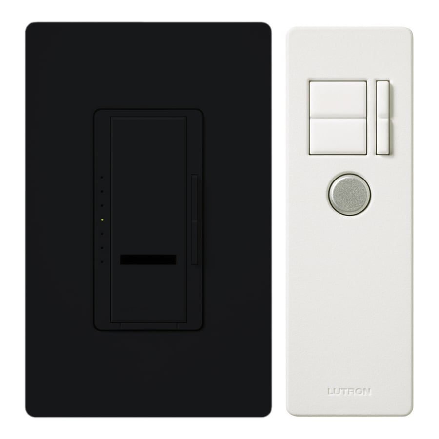 Lutron Maestro IR 600-Watt Single Pole Wireless Black Indoor Remote Control Dimmer