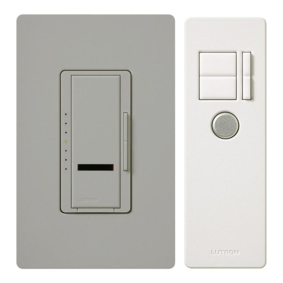 Lutron Maestro IR 600-Watt Single Pole Wireless Gray Indoor Remote Control Dimmer