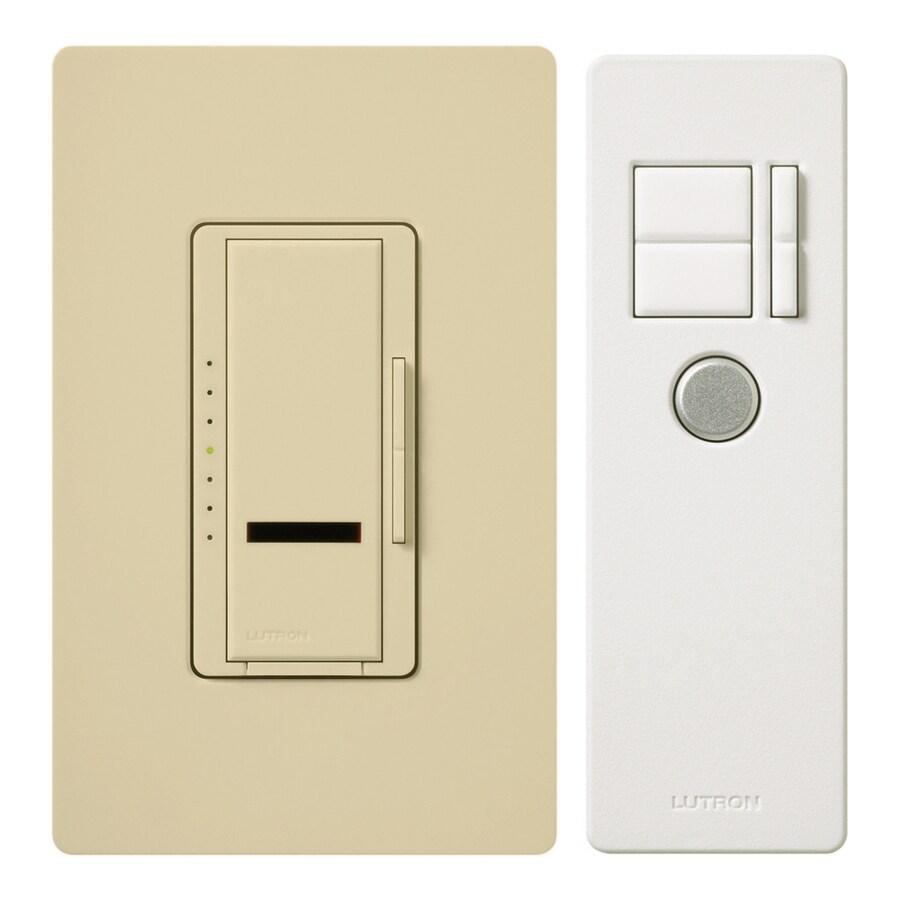 Lutron Maestro IR 5-Amp 600-Watt Ivory 3-Way Digital Dimmer with Remote
