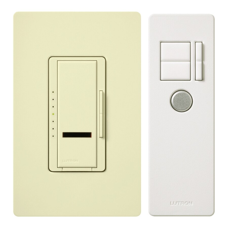 Lutron Maestro IR 5-Amp 600-Watt Almond 3-Way Digital Dimmer with Remote