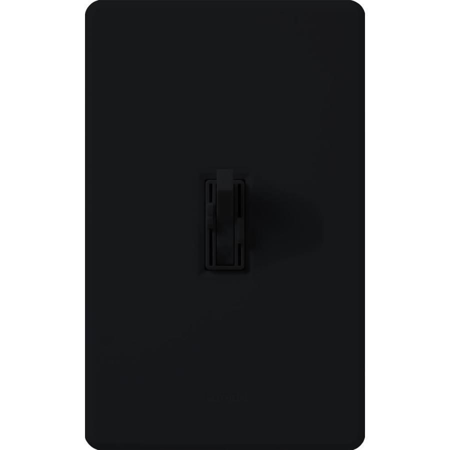 Lutron Toggler 300-Watt Double Pole Black Indoor Slide Combination Dimmer and Fan Control