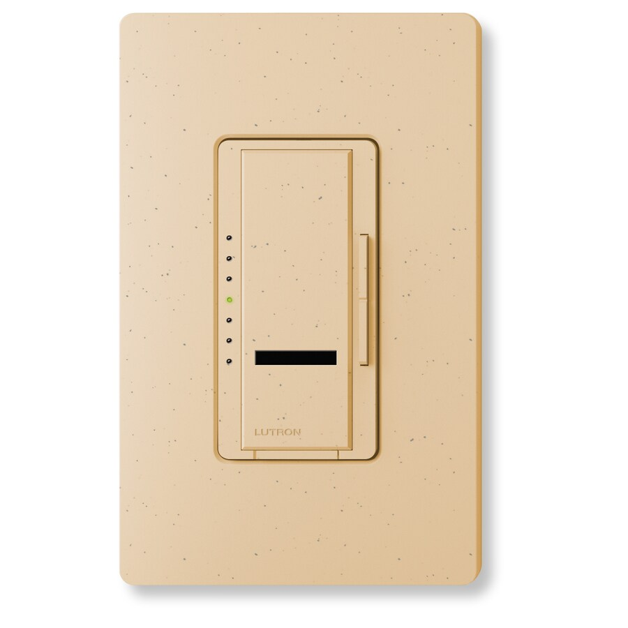 Lutron Maestro IR 600-Watt Single Pole Wireless Desert Stone Indoor Remote Control Dimmer