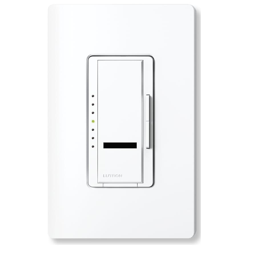 Lutron Maestro IR 450-Watt Single Pole Wireless Snow Indoor Remote Control Dimmer
