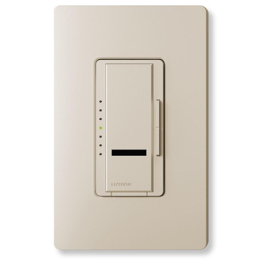 Lutron Maestro IR 800-Watt Single Pole Wireless Taupe Indoor Remote Control Dimmer