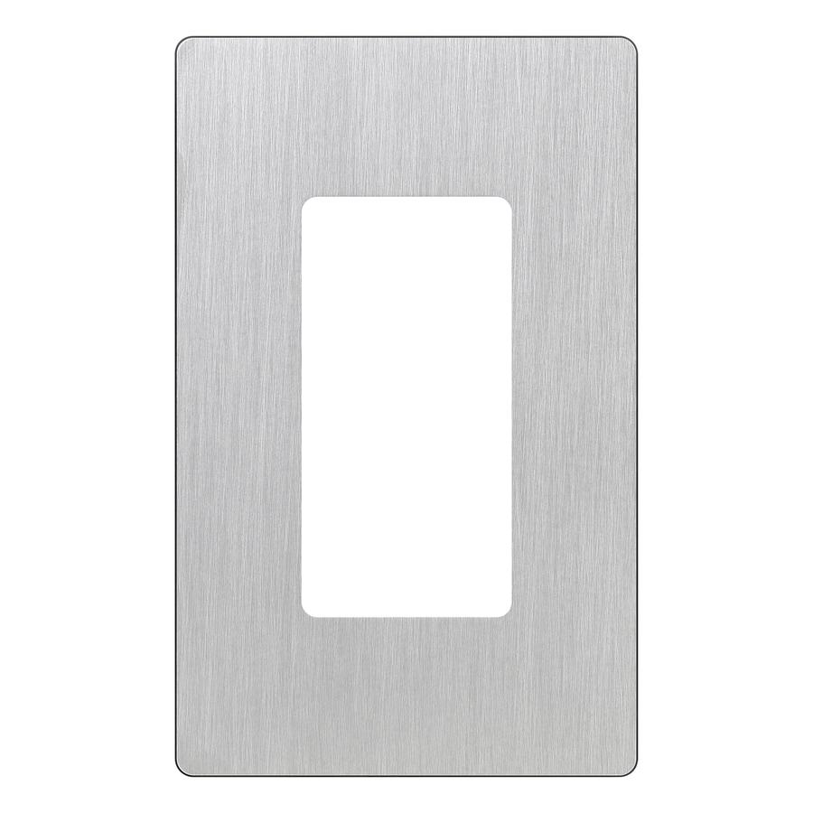 Lutron Claro 1-Gang Stainless Steel Decorator Rocker Metal Wall Plate
