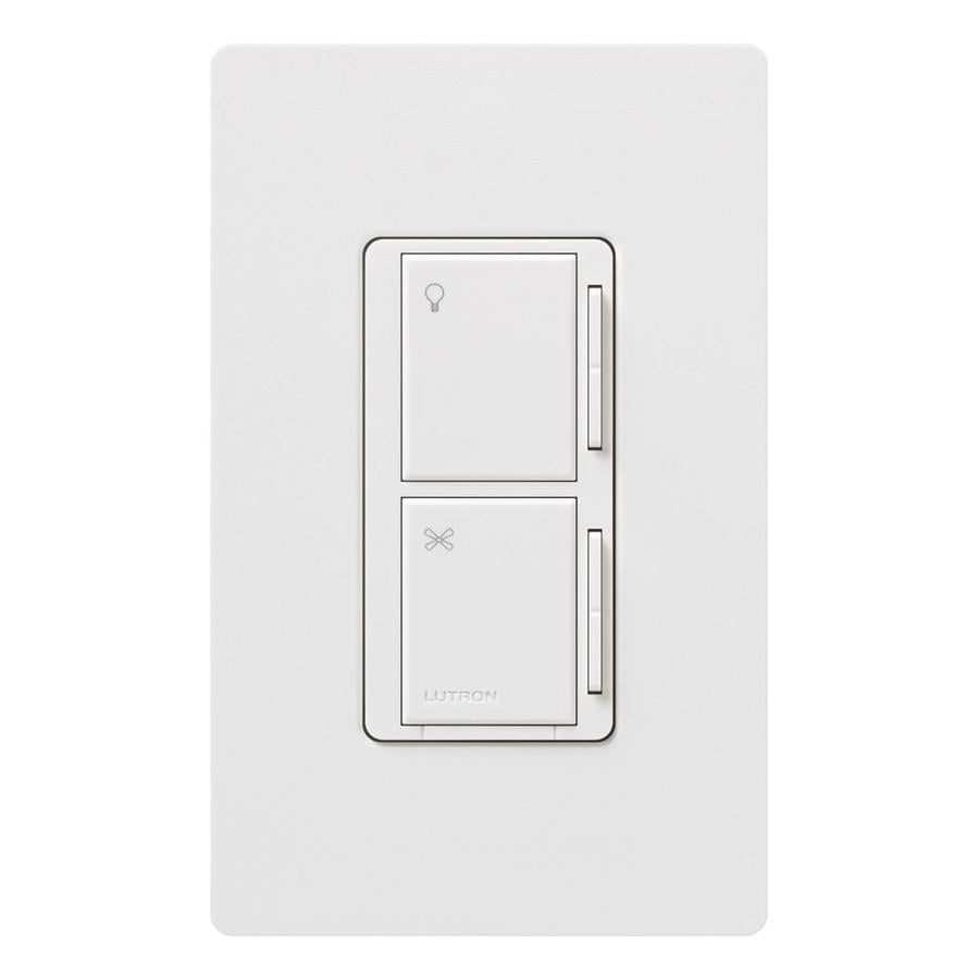 watt 3 way 4 way white indoor tap combination dimmer and fan control. Black Bedroom Furniture Sets. Home Design Ideas