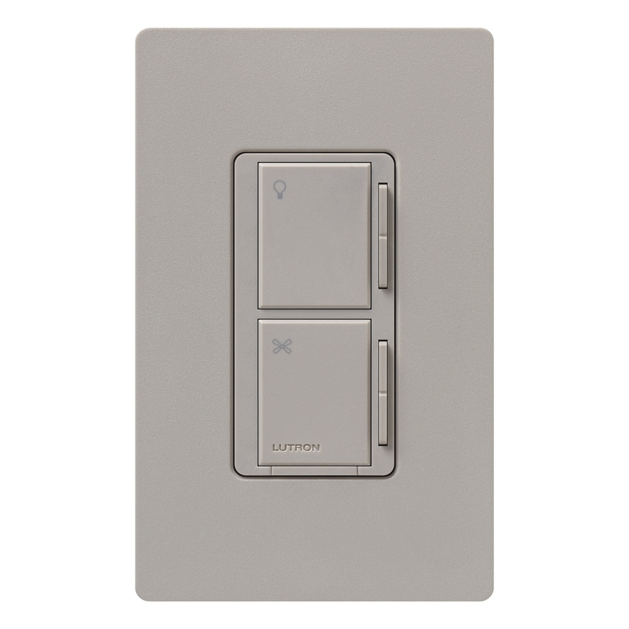 Lutron Maestro 300-Watt 3-Way 4-Way Taupe Indoor Tap Combination Dimmer and Fan Control