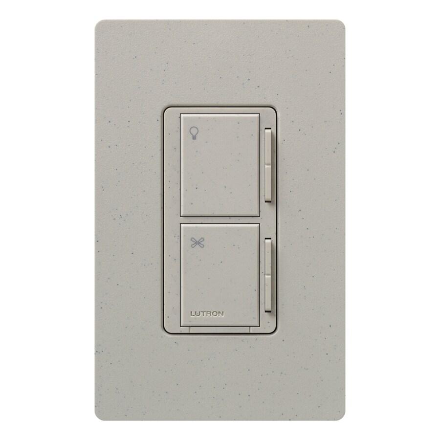 Lutron Maestro 300-Watt 3-Way 4-Way Stone Indoor Tap Combination Dimmer and Fan Control