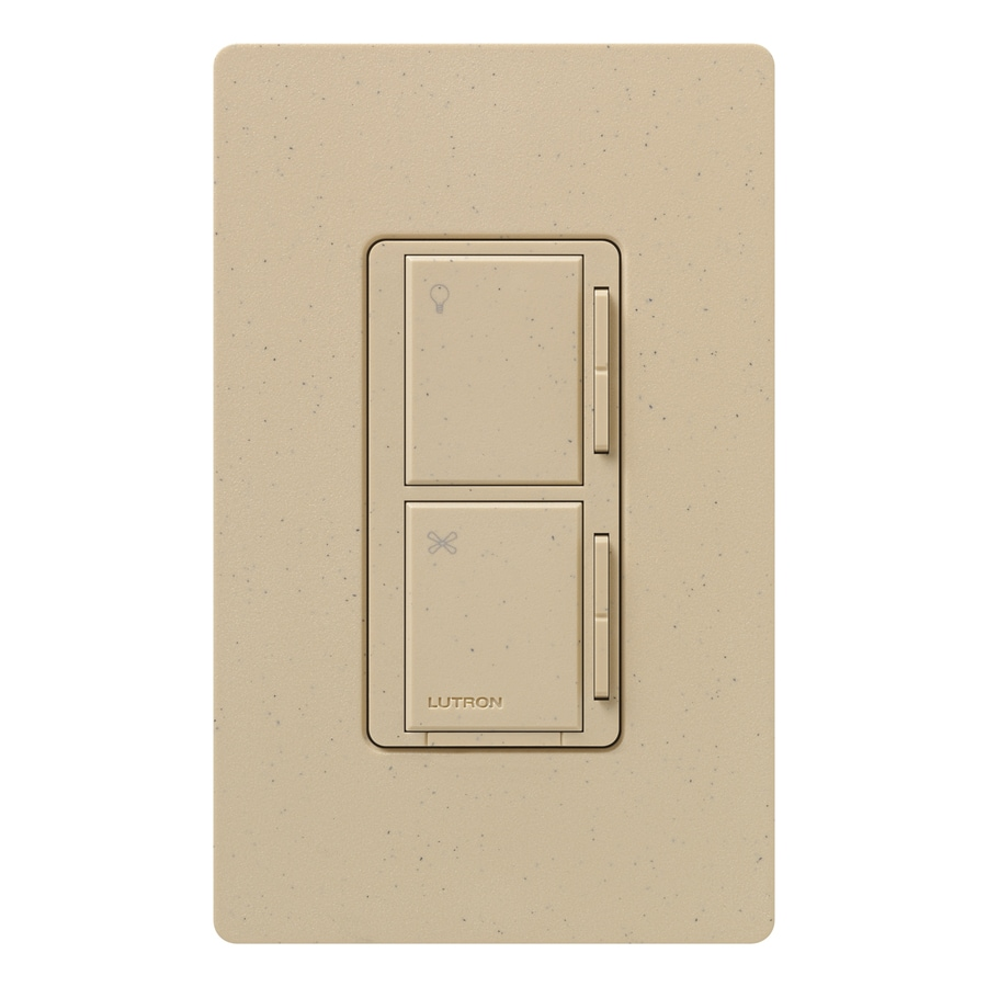 Lutron Maestro 300-Watt 3-Way 4-Way Desert Stone Indoor Tap Combination Dimmer and Fan Control