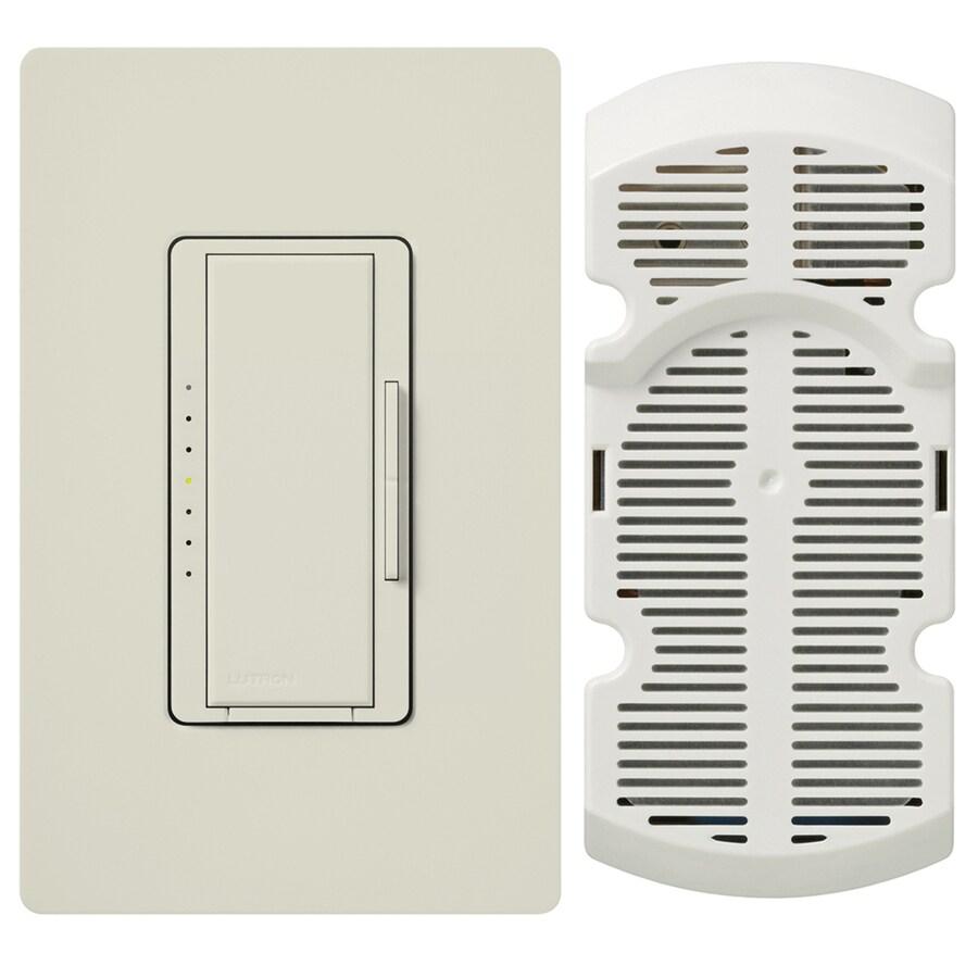 Lutron Maestro 7-Speed 1-Amp Light Almond Indoor Rocker Fan Control