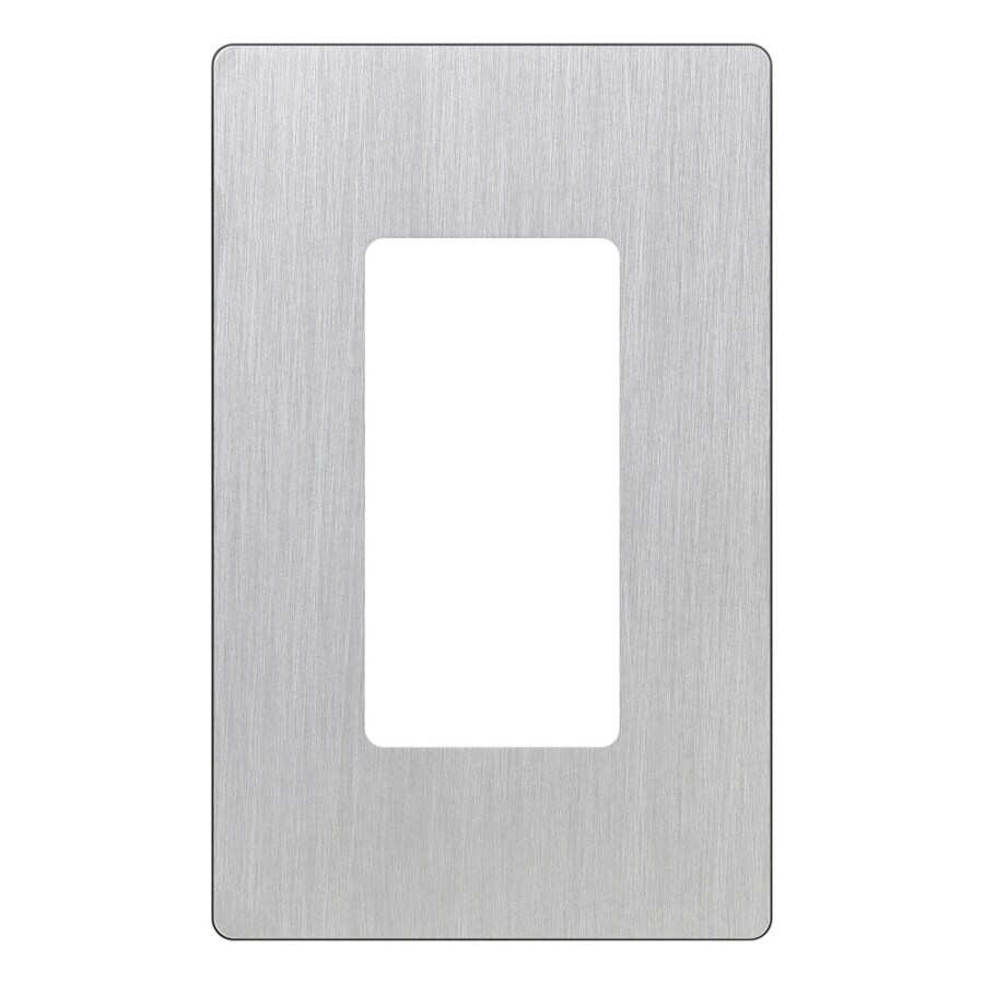 Lutron Claro 1-Gang Stainless Steel Single Decorator Wall Plate