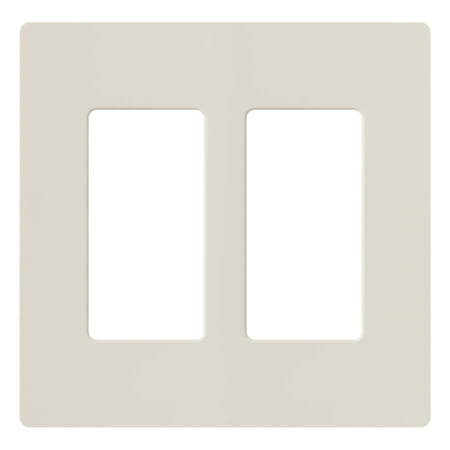 Lutron Claro 2-Gang Light Almond Double Decorator Wall Plate