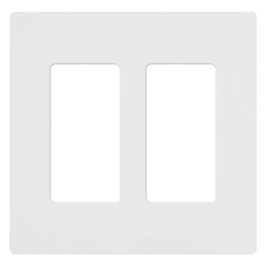 Lutron Claro 2-Gang White Double Duplex Wall Plate
