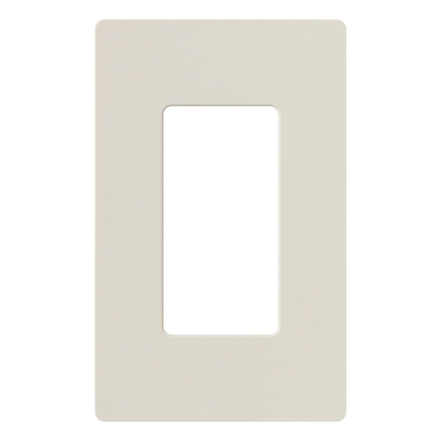 Lutron Claro 1-Gang Light Almond Single Decorator Wall Plate