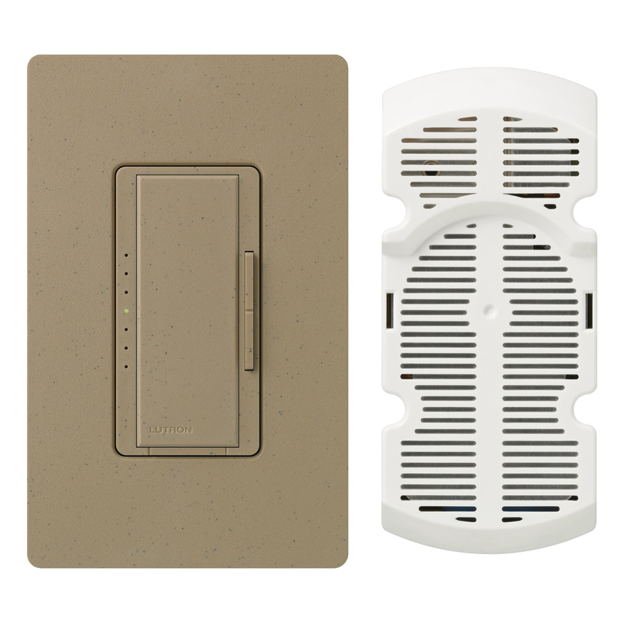 Lutron Maestro 7-Speed 1-Amp Mocha Stone Indoor Rocker Fan Control