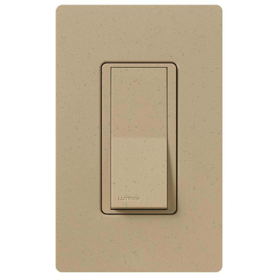 Lutron Claro 15-Amp 4-Way Mocha Stone Indoor Push Light Switch