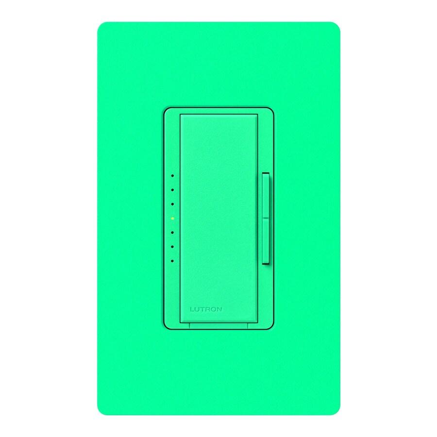 Lutron Maestro 1,000-Watt Single Pole Turquoise Indoor Touch Dimmer