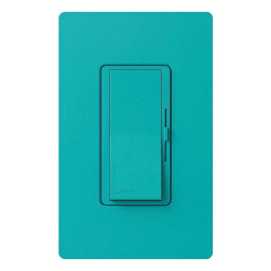 Lutron Diva 800-Watt Single Pole Turquoise Indoor Slide Dimmer