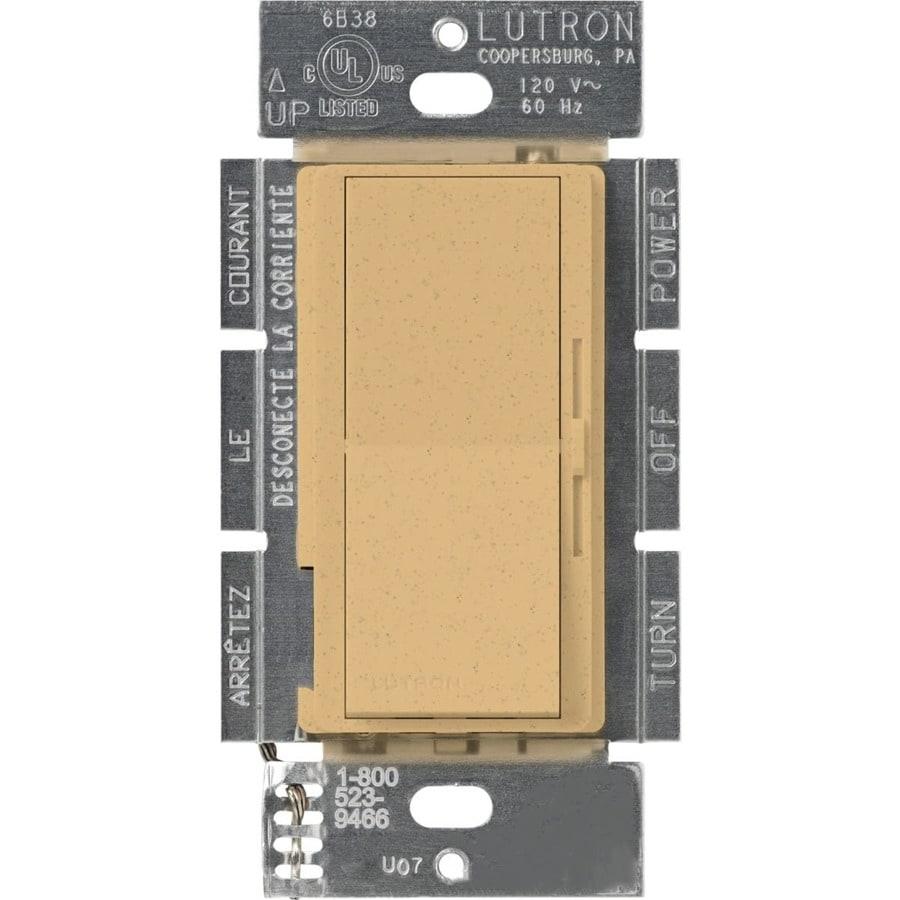 Lutron Diva 300-Watt 3-Way Single Pole Goldstone Indoor Slide Dimmer