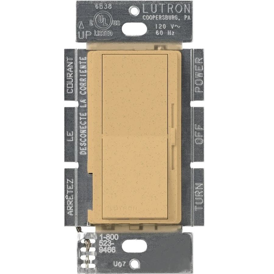Lutron Diva 450-Watt Single Pole Goldstone Indoor Slide Dimmer