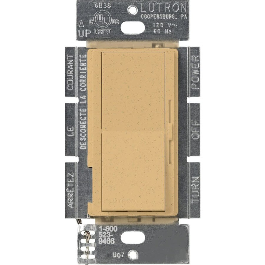 Lutron Diva 450-Watt 3-Way Single Pole Goldstone Indoor Slide Dimmer