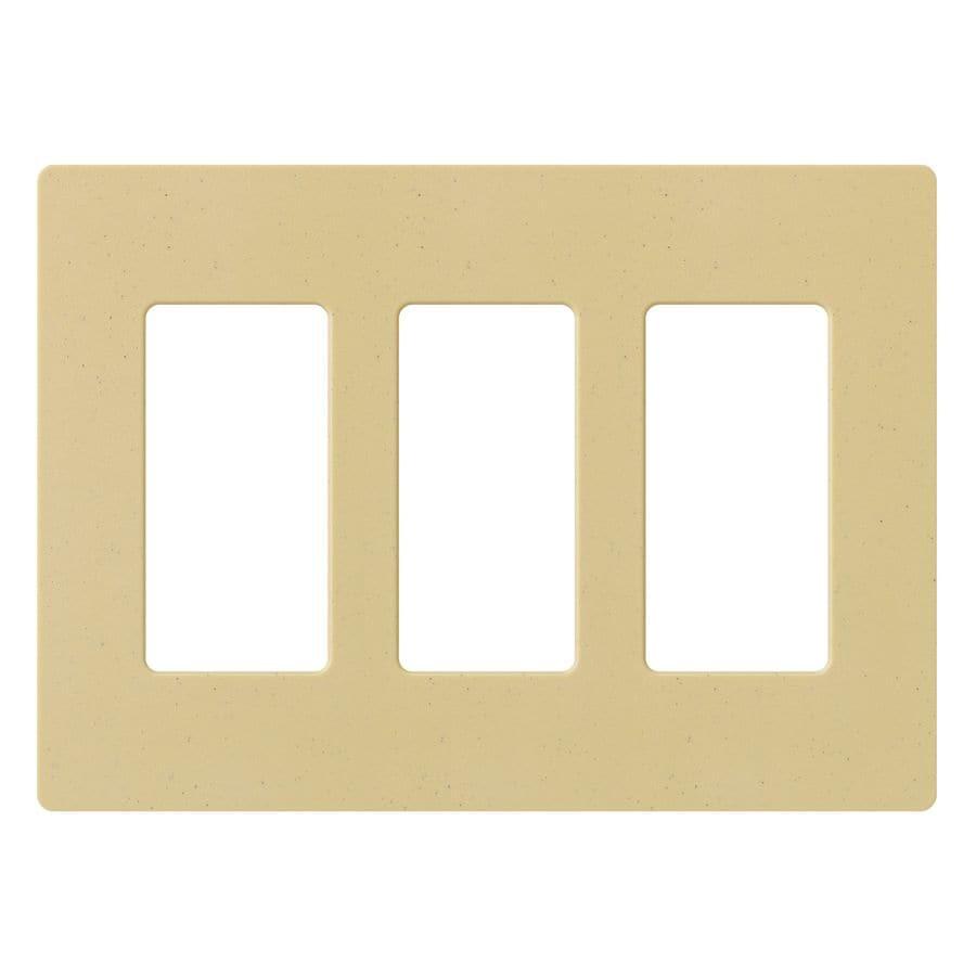 Lutron Claro 3-Gang Goldstone Triple Decorator Wall Plate