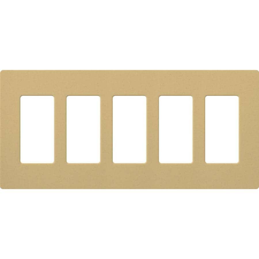 Lutron 5-Gang Goldstone Decorator Rocker Plastic Wall Plate