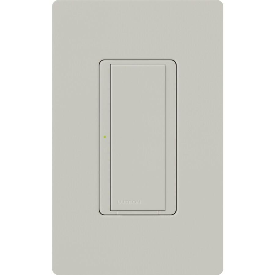 Lutron Maestro 8-Amp 3-Way Single Pole Palladium Indoor Push Light Switch