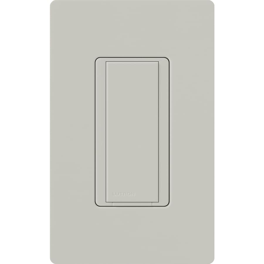 Lutron Maestro 8-Amp Single Pole Palladium Indoor Push Light Switch