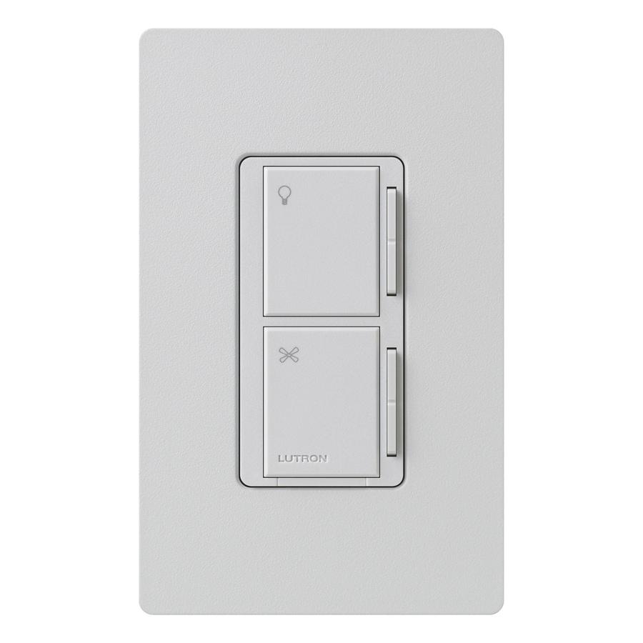 Lutron Maestro 300-Watt 3-Way 4-Way Palladium Indoor Tap Combination Dimmer and Fan Control
