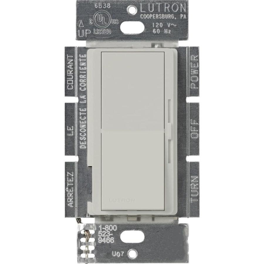 Lutron Diva 450-Watt Single Pole Palladium Indoor Slide Dimmer