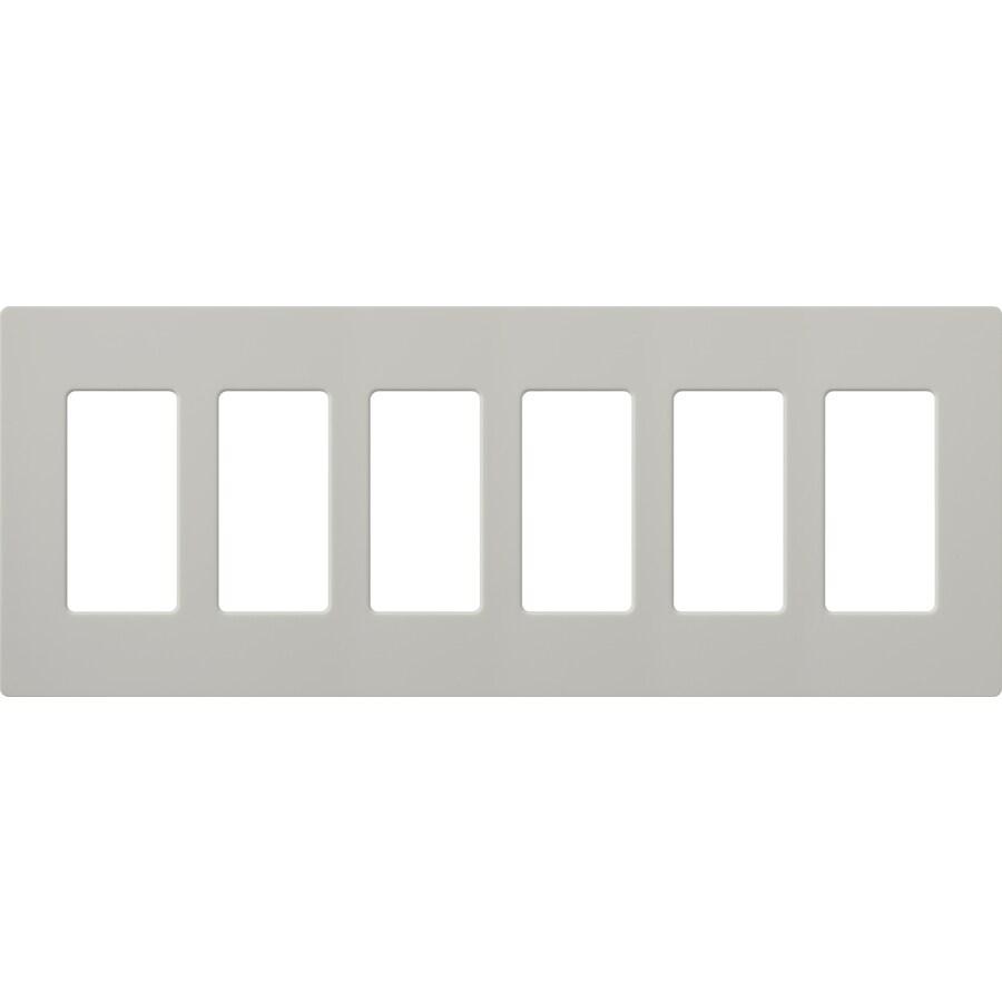 Lutron Claro 6-Gang Palladium Six Decorator Wall Plate