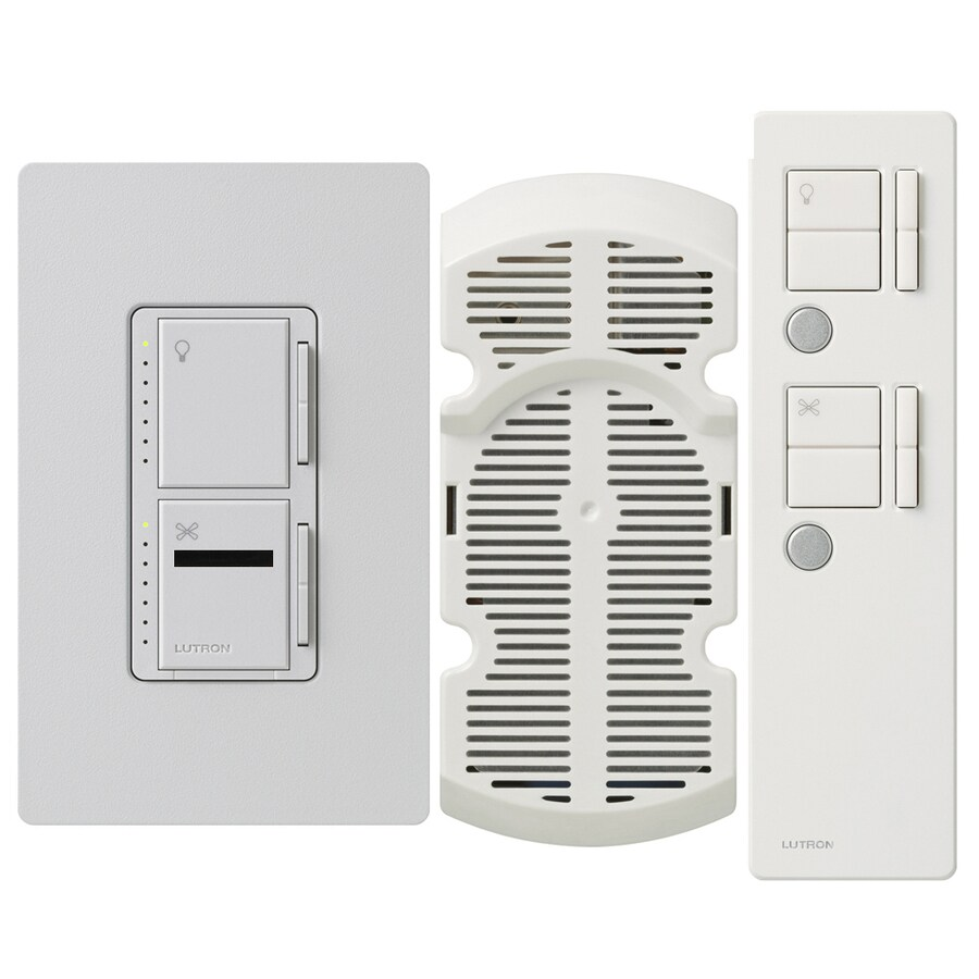 Lutron Maestro IR 2.5-Amp 300-Watt Palladium 3-Way Digital Combination Ceiling Fan and Light Control with Remote
