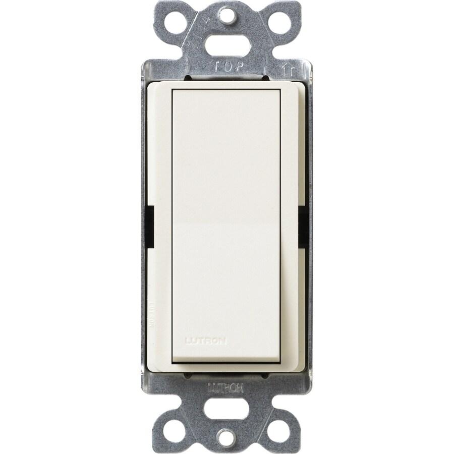 Lutron Claro 15-Amp Single Pole Biscuit Indoor Push Light Switch