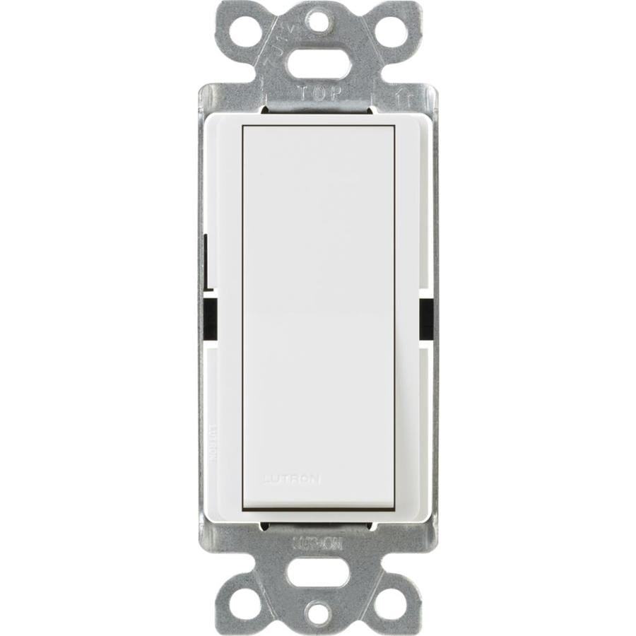 Lutron Claro 15-Amp 3-Way Double Pole White Indoor Push Light Switch
