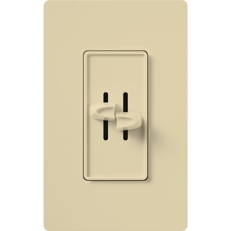 Lutron Skylark 300-Watt Single Pole Ivory Indoor Slide Dimmer