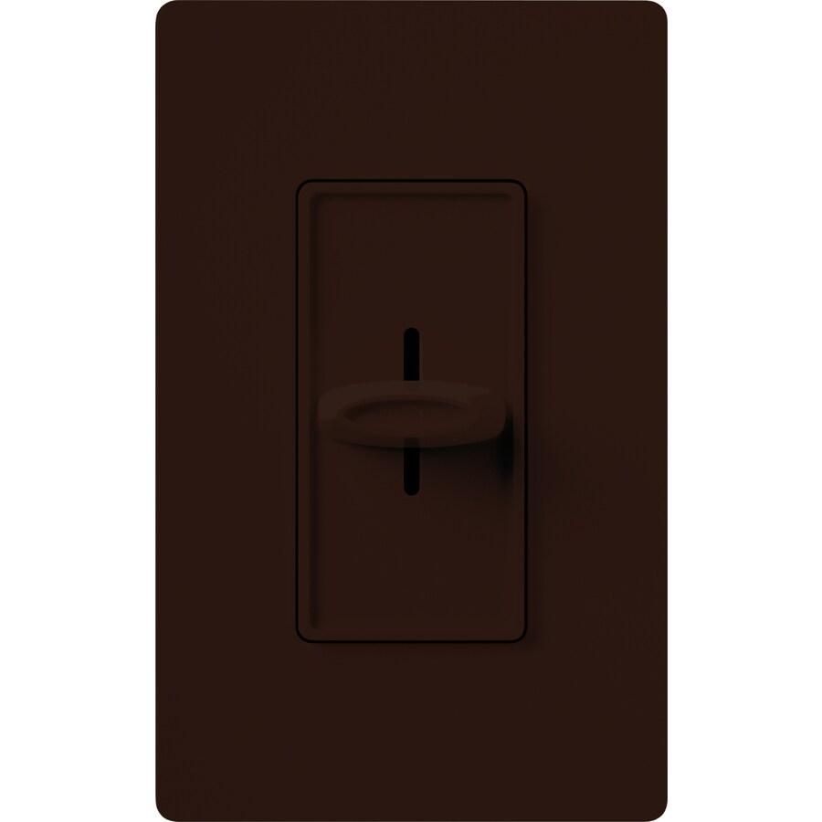 Lutron Skylark 1,000-Watt Single Pole Brown Indoor Slide Dimmer