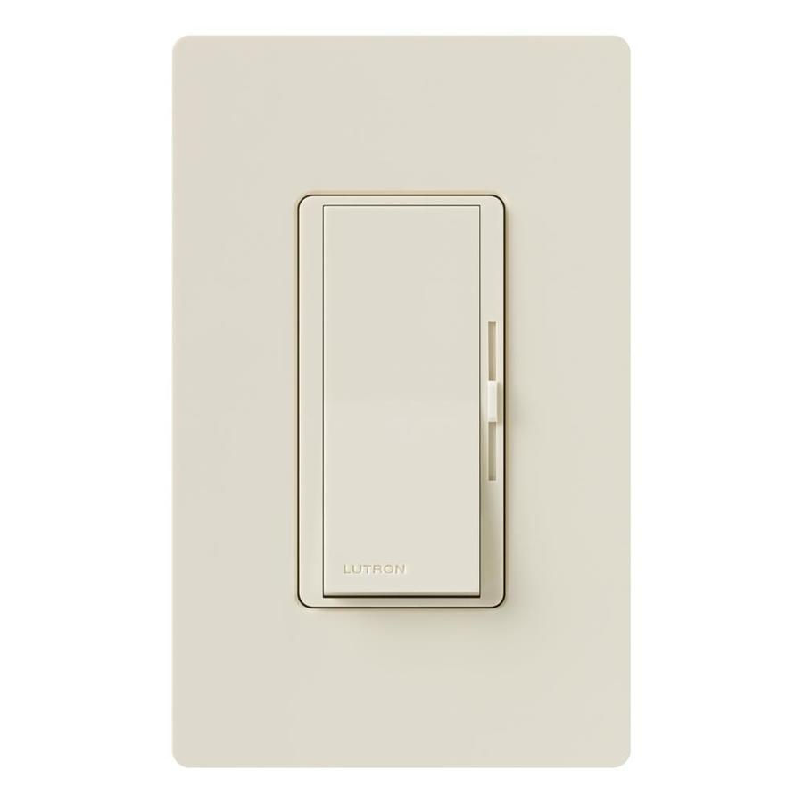 Lutron Diva 600-Watt Single Pole Light Almond Indoor Slide Dimmer