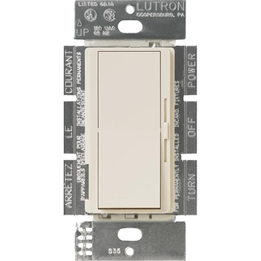 Lutron Diva 450-Watt Single Pole Light Almond Indoor Slide Dimmer