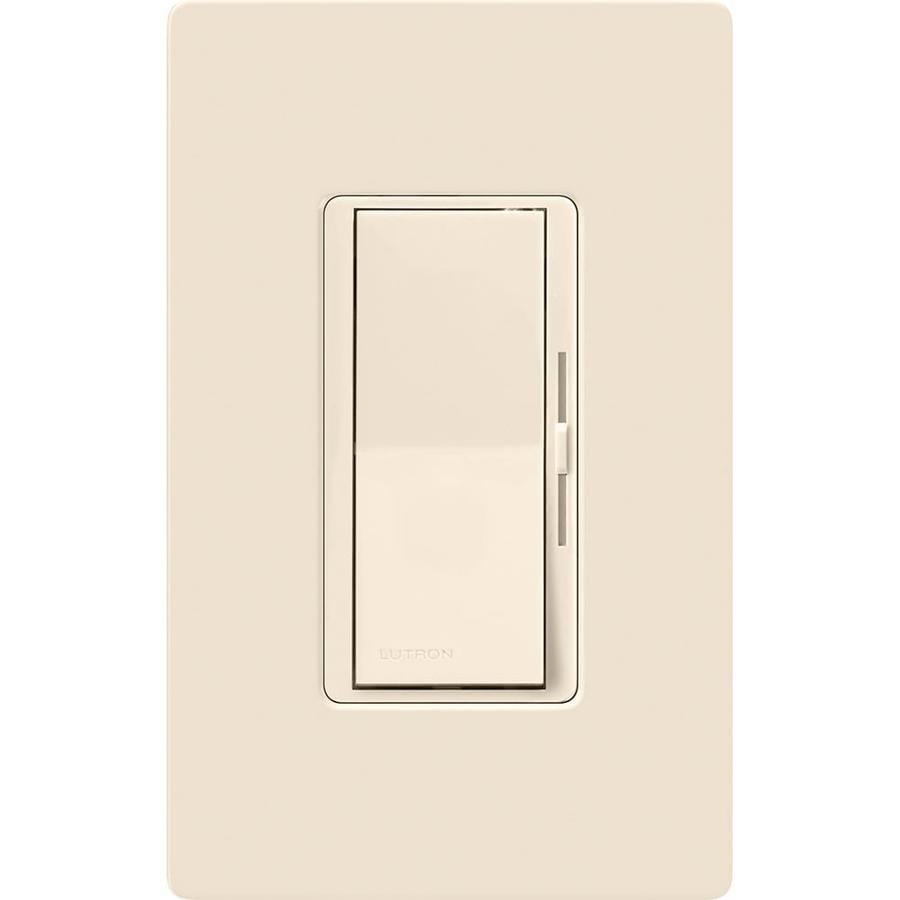 Lutron Diva 600-Watt 3-Way Single Pole Light Almond Indoor Slide Dimmer