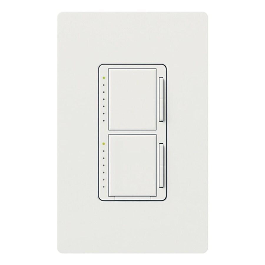 Lutron Maestro 300-Watt Single Pole Snow Indoor Touch Dimmer