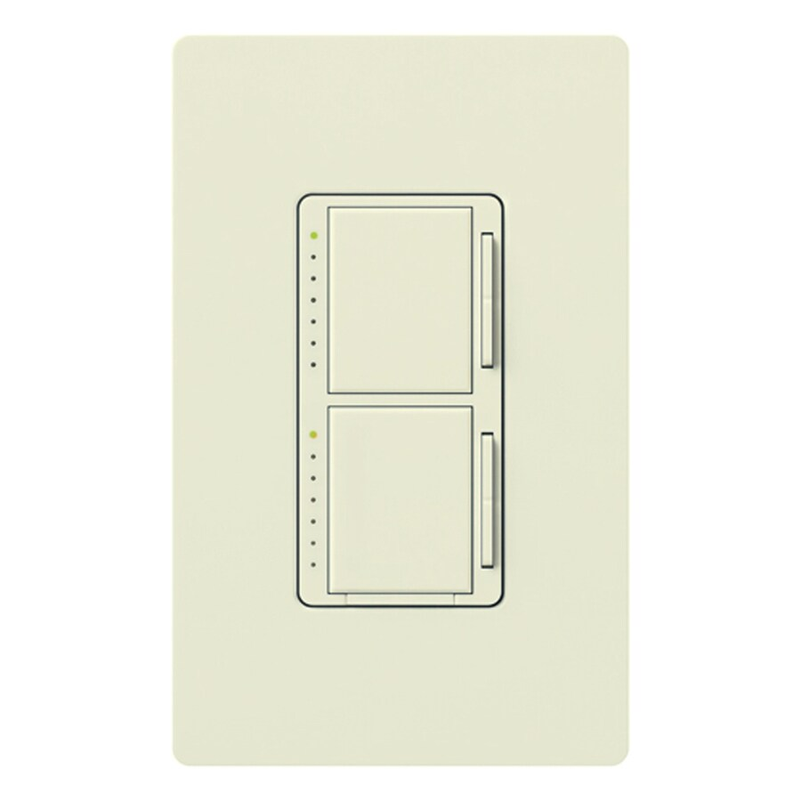 Lutron Maestro 300-Watt Single Pole Biscuit Indoor Touch Dimmer