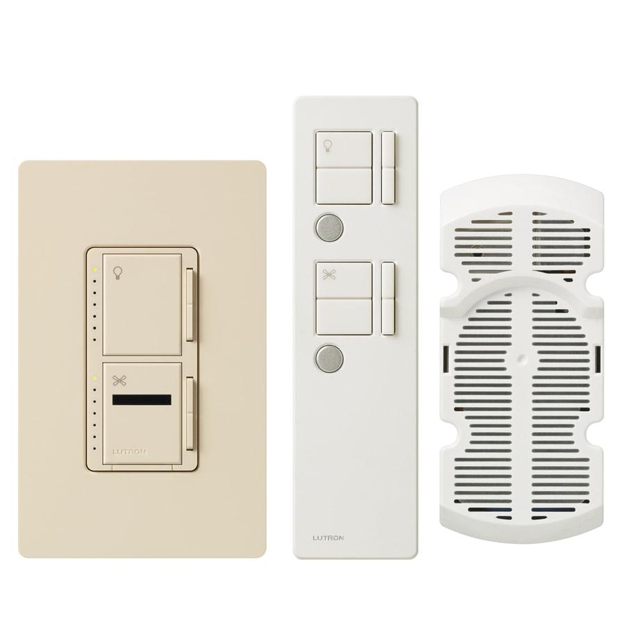 Lutron Maestro IR 1-Amp 300-Watt Light Almond Digital Combination Ceiling Fan and Light Control with Remote
