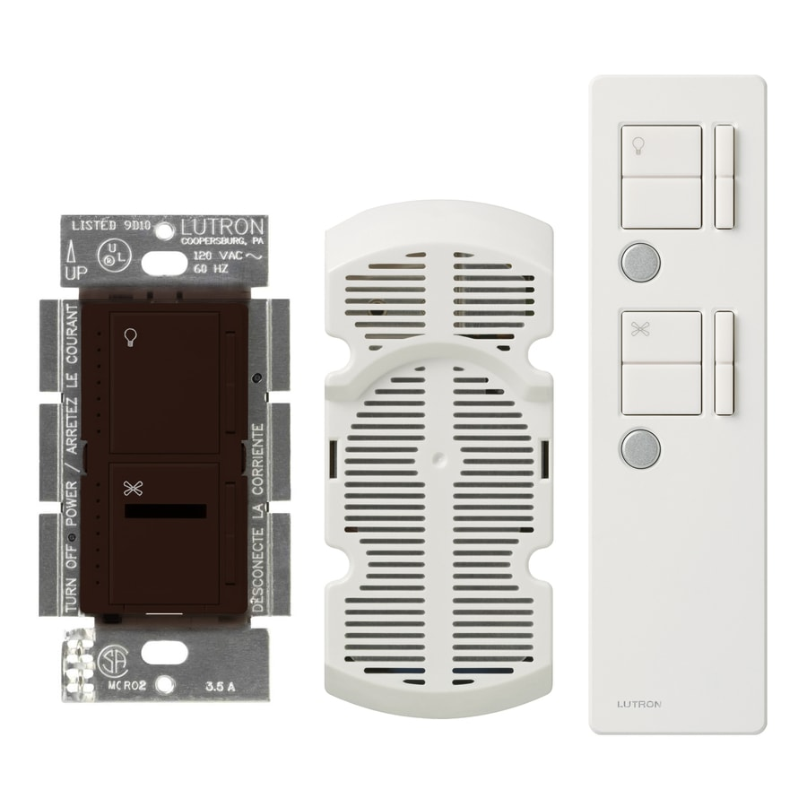 Lutron Maestro IR 2.5-Amp 300-Watt Brown Digital Combination Ceiling Fan and Light Control with Remote
