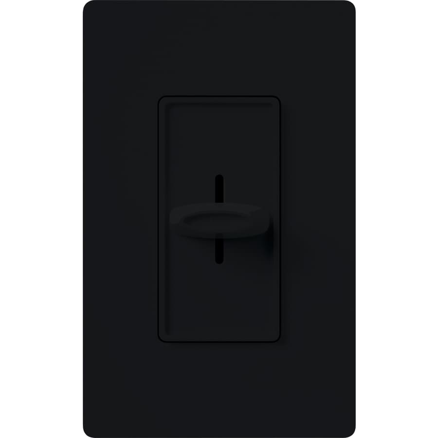 Lutron Skylark 1,000-Watt Single Pole Black Indoor Slide Dimmer