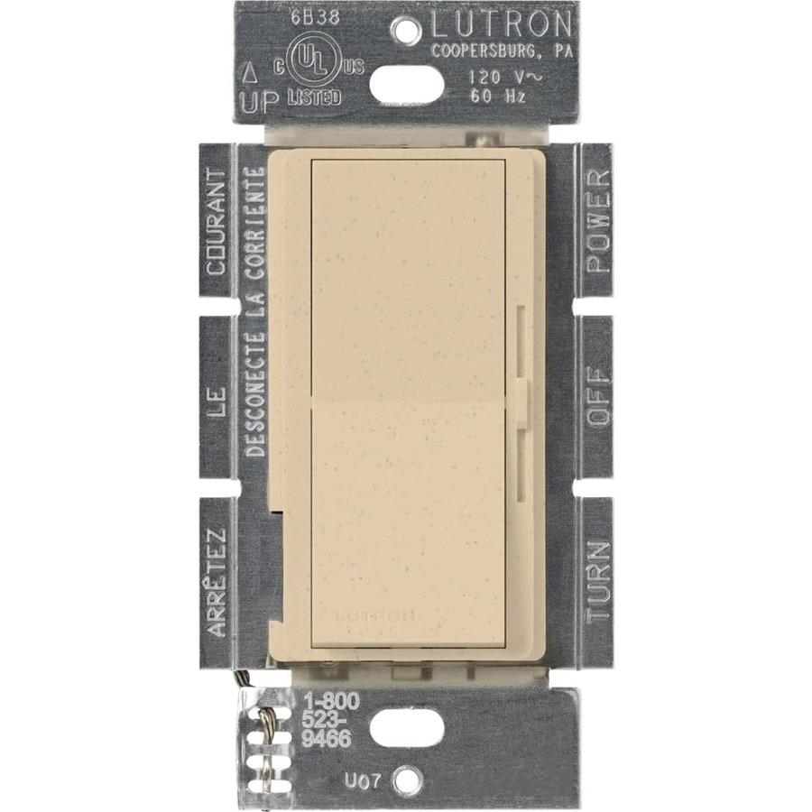 Lutron Diva 450-Watt 3-Way Single Pole Desert Stone Indoor Slide Dimmer