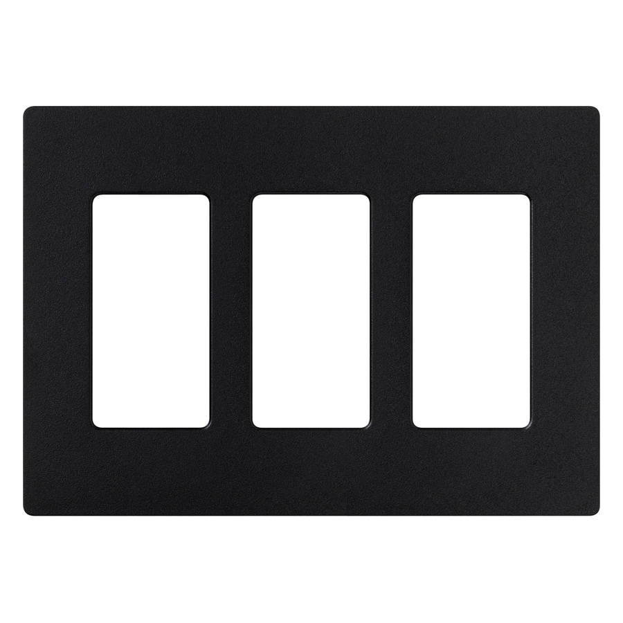 Lutron Claro 3-Gang Midnight Triple Decorator Wall Plate
