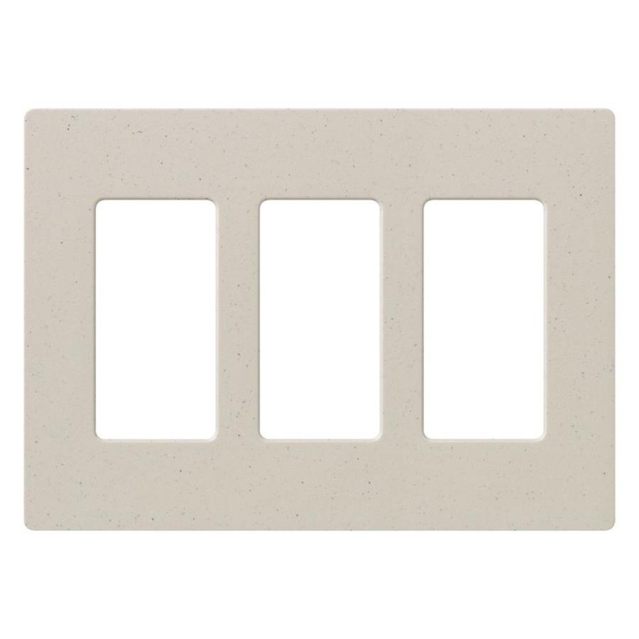 Lutron Satin Color 3-Gang Desert Stone Decorator Rocker Plastic Wall Plate