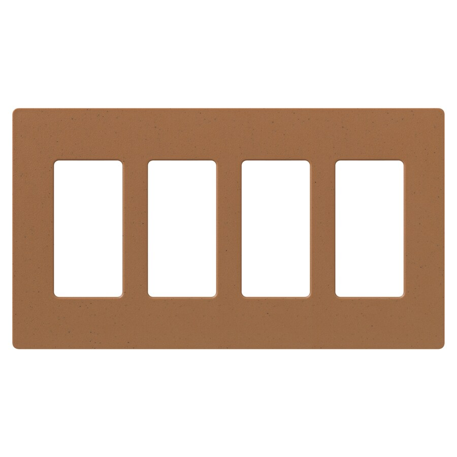 Lutron Claro 4-Gang Terra Cotta Quad Decorator Wall Plate
